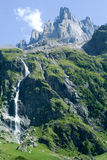 Landskap på Engelberg Arkivfoto