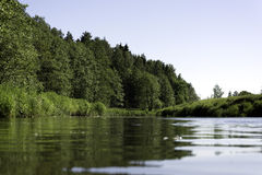 Landskap på floden Royaltyfria Bilder