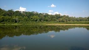 Landskap på floden Royaltyfri Fotografi