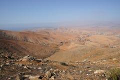 Landskap på Fuerteventura Arkivbilder