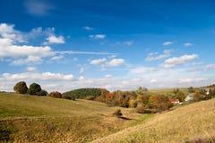 Landskap på Hummelshain Arkivbilder