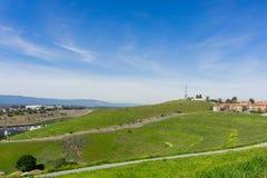 Landskap på kommunikationskullen, San Jose, Kalifornien arkivbilder