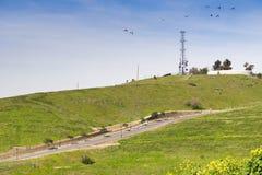 Landskap på kommunikationskullen, San Jose, Kalifornien arkivfoton