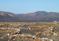 Landskap på Lanzarote Arkivbild