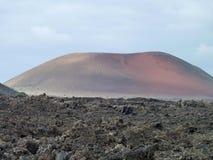 Landskap på Lanzarote Arkivfoto