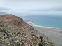 Landskap på Lanzarote Royaltyfri Foto