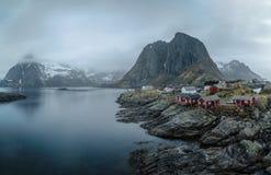 Landskap på lofotenen Fotografering för Bildbyråer