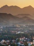 Landskap på luangprabang, Laos Arkivbild