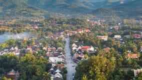 Landskap på luangprabang, Laos Arkivbilder
