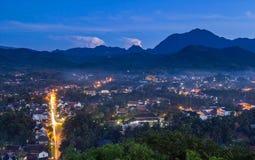 Landskap på luangprabang, Laos Arkivfoto