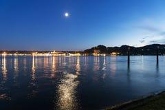Landskap på Maggiore sjön Arkivbild