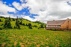 Landskap på monteringen Rainier National Park i Washington State USA royaltyfri fotografi