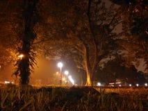 Landskap på natten Fotografering för Bildbyråer