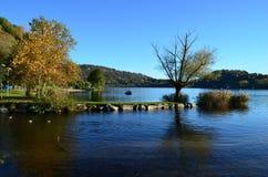 Landskap på sjön Orta Royaltyfria Foton