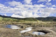 Landskap på skymning i Shangri-la County, Yunnan landskap, Kina Fotografering för Bildbyråer