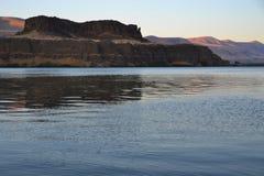 Landskap på solnedgången, Oregon Arkivbild