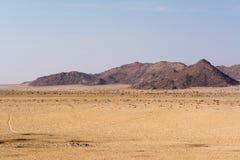 Landskap på vägen till luderitz Arkivfoto