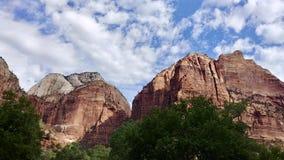 Landskap på Zion National Park royaltyfria bilder