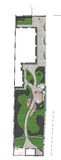 Landskap platsutvecklingsplan, skissar 2D Royaltyfri Foto