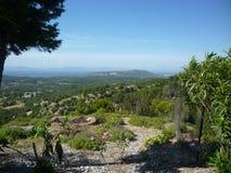 Landskap Rhodes, Grekland, grekiska öar Royaltyfria Foton