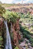 Landskap runt om dammfacket El-Ouidane royaltyfri fotografi