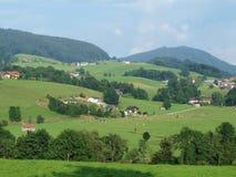 Landskap runt om Mondsee, Salzburgerland Arkivfoto