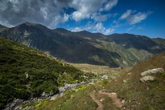 Landskap sikten av Kackar berg i Rize, Turkiet Royaltyfri Foto