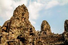 Landskap sikten av templen på Angkor Wat, Siem Reap, Cambodja Royaltyfri Bild