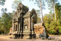 Landskap sikten av templen på Angkor Wat, Siem Reap, Cambodja Royaltyfri Foto
