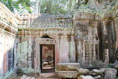 Landskap sikten av templen på Angkor Wat, Siem Reap, Cambodja Arkivbild