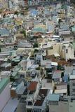 Landskap sikten från himmelbyggnad i den Ho Chi Minh staden Royaltyfri Foto