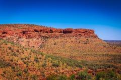 Landskap sikten på konungar kanjonen, Australien vildmark Arkivfoton