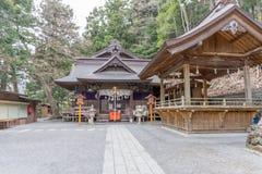Landskap sikten uppifrån av den Chureito pagoden i Kawaguchi-knock-out, Royaltyfri Fotografi