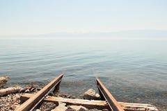 Landskap sjö Arkivbild