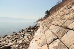 Landskap sjö Arkivfoto
