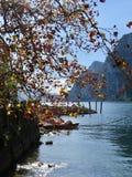 Landskap sjö av gardaen Royaltyfri Bild