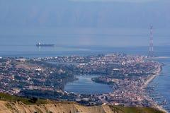 Landskap sjöganziri Messina Sicilien Fotografering för Bildbyråer