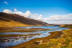 Landskap Skottland, ö av Skye, Sligachan område royaltyfri bild