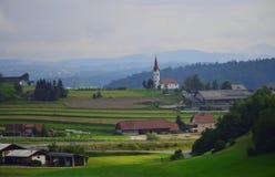 Landskap Slovenien Europa för Trebnje områdesberg arkivfoto