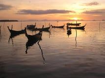 Landskap solnedgång i natur Arkivbild