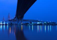 Landskap som är industriellt av bron royaltyfri foto