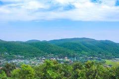 Landskap som är lantligt i Chiang Mai, Thailand royaltyfri foto