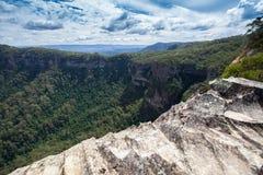 Landskap som tas i blåa berg av Australien Royaltyfri Foto