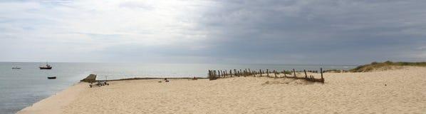 Landskap stranden på Lalantgården Il de re Frankrike royaltyfria foton