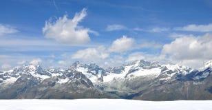 landskap switzerland för gornergratbergkant Arkivbild