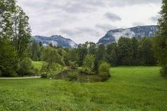 Landskap sydvästliga Bayern Tyskland Arkivbilder