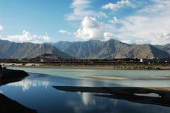 landskap tibet Royaltyfri Fotografi
