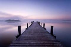 Landskap tidigt på morgonen Arkivbild
