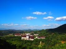 Landskap TiltÂShift Arkivfoto