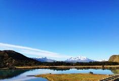 Landskap - Torres del Paine, Patagonia, Chile Royaltyfria Bilder